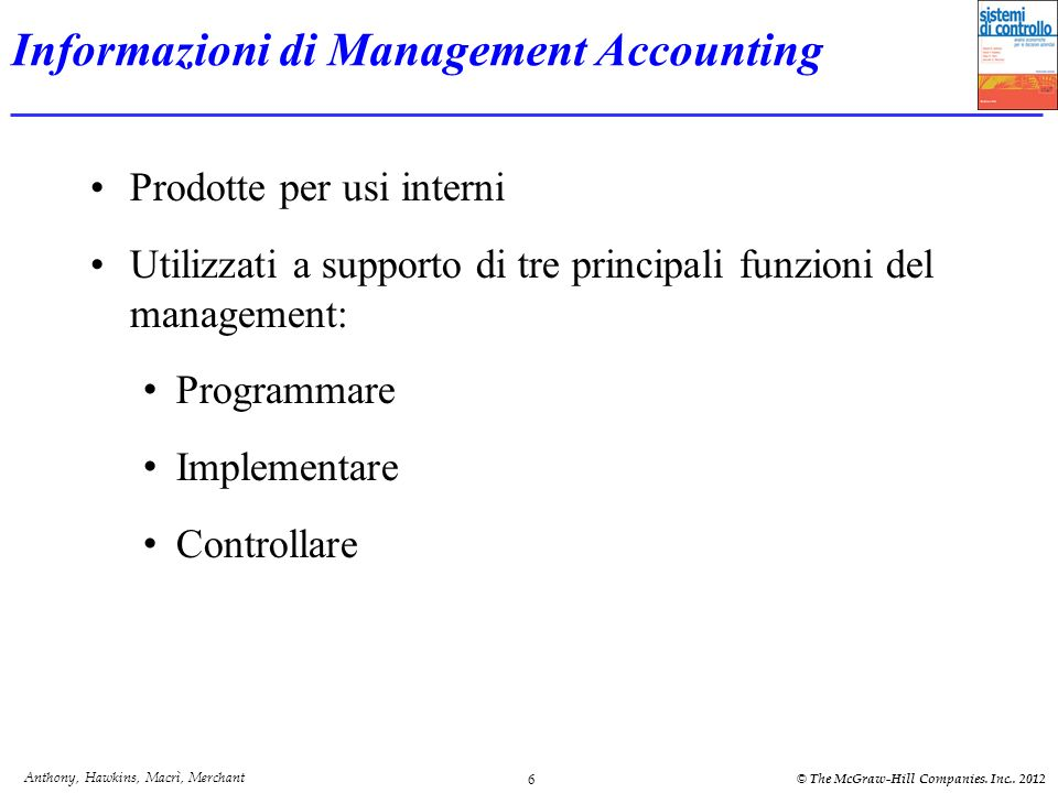 Informazioni di Management Accounting