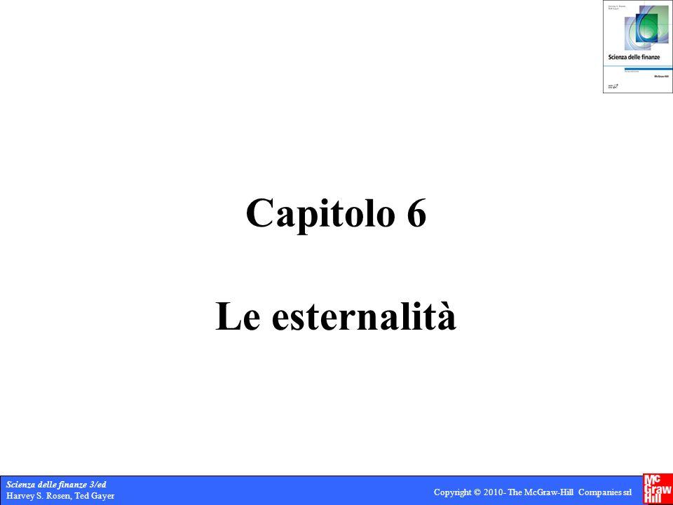Capitolo 6 Le esternalità
