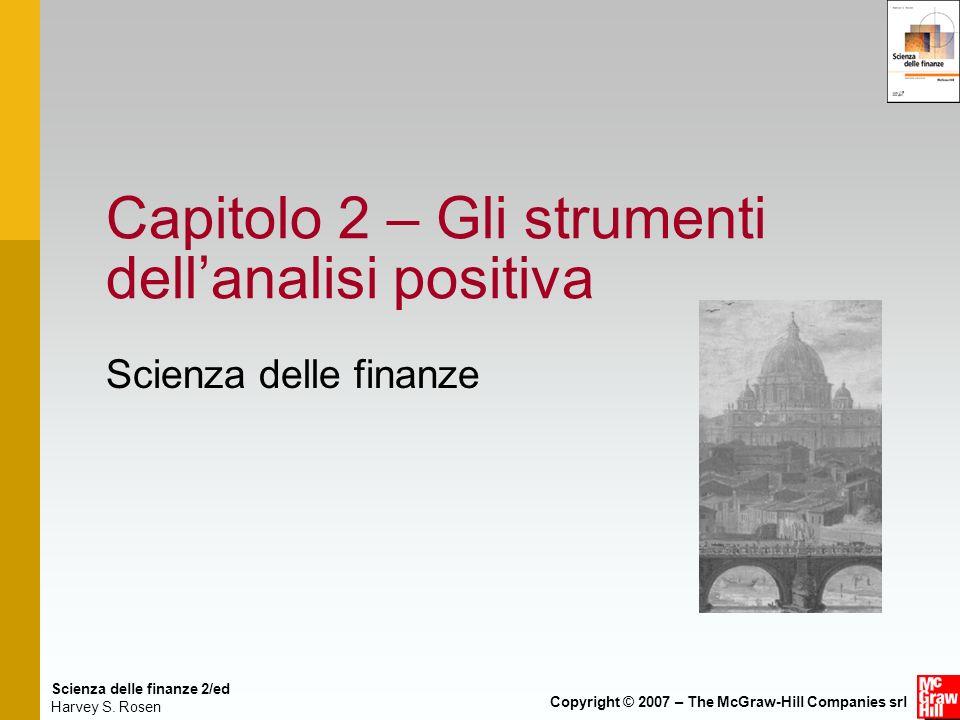 Capitolo 2 – Gli strumenti dell'analisi positiva