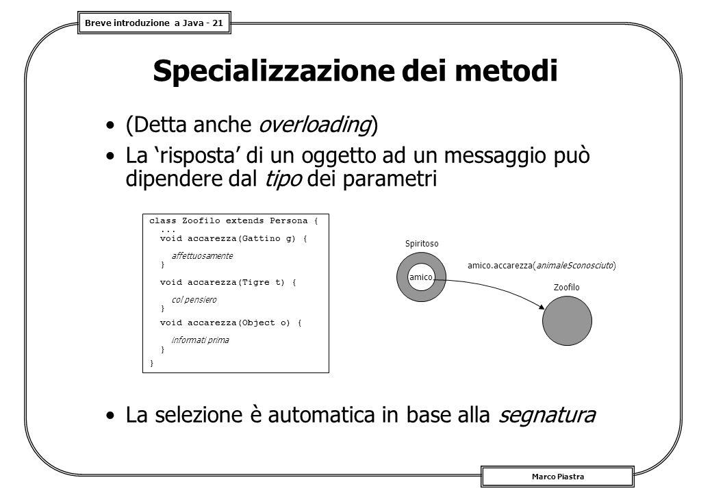 Specializzazione dei metodi