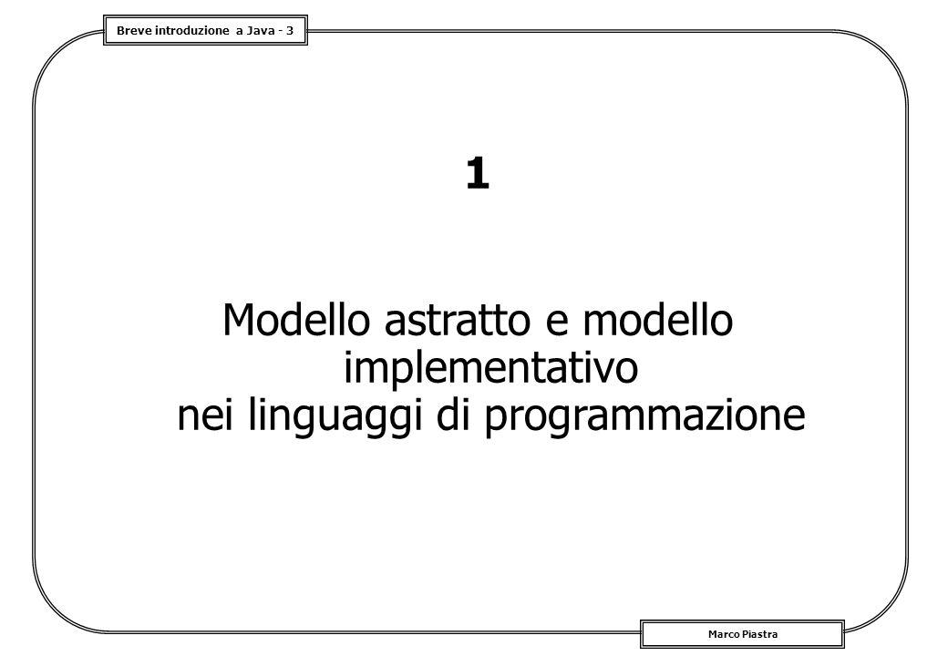 1 Modello astratto e modello implementativo nei linguaggi di programmazione