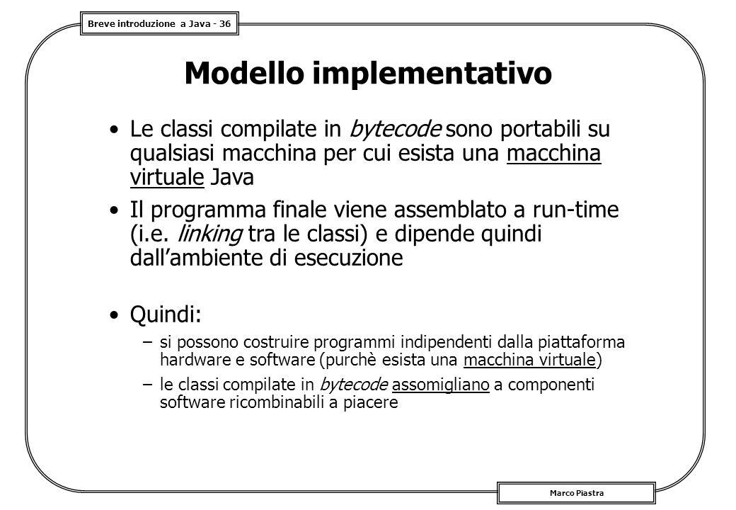 Modello implementativo