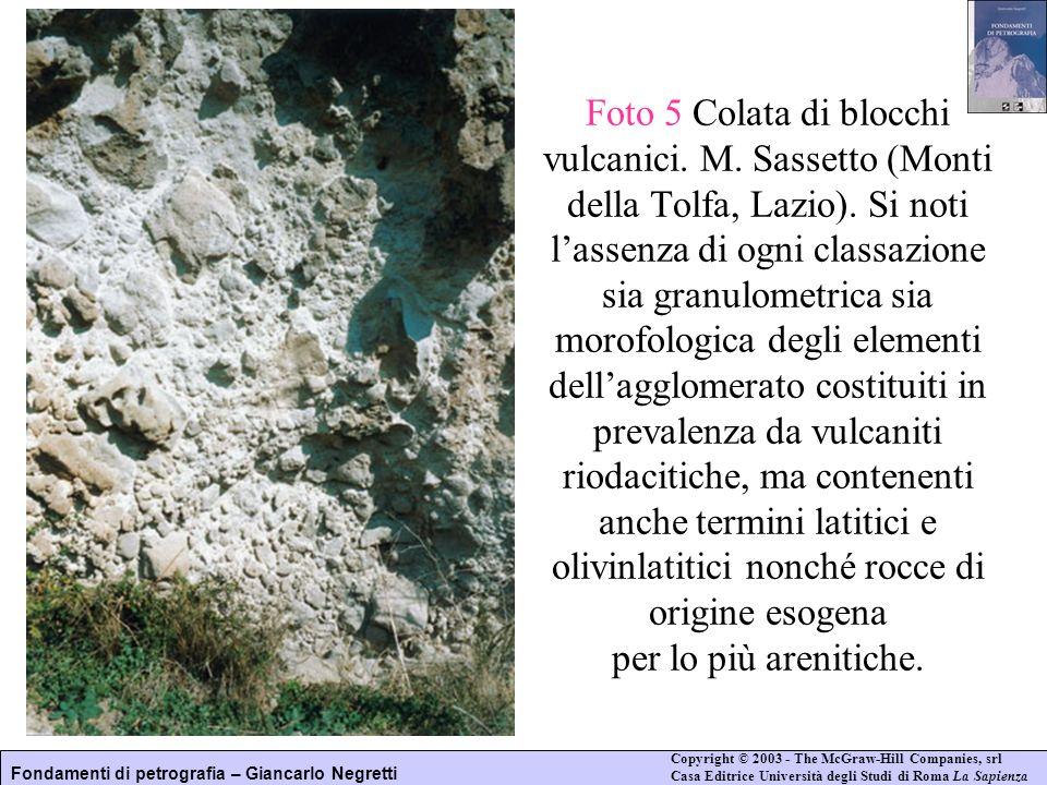 Foto 5 Colata di blocchi vulcanici. M