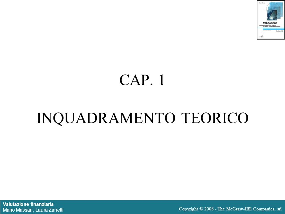 CAP. 1 INQUADRAMENTO TEORICO