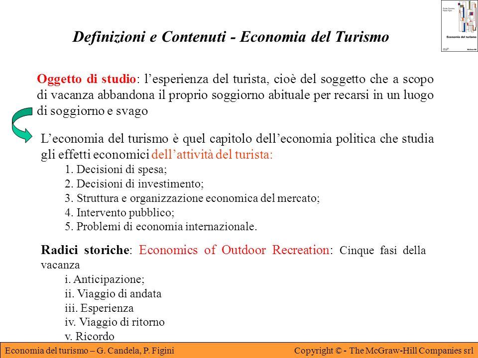 Definizioni e Contenuti - Economia del Turismo