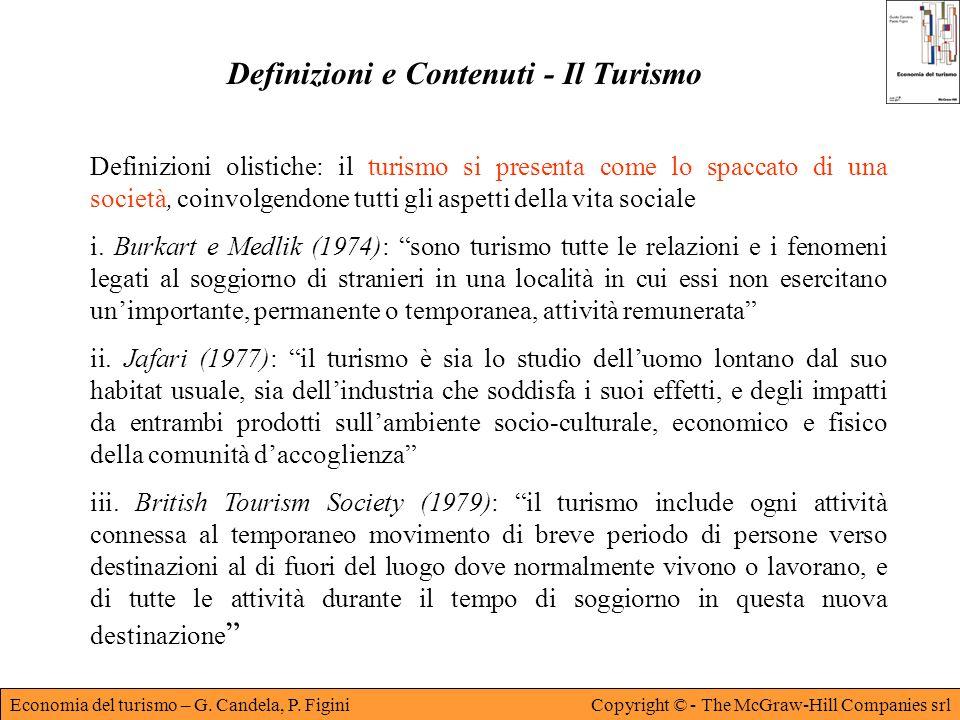 Definizioni e Contenuti - Il Turismo