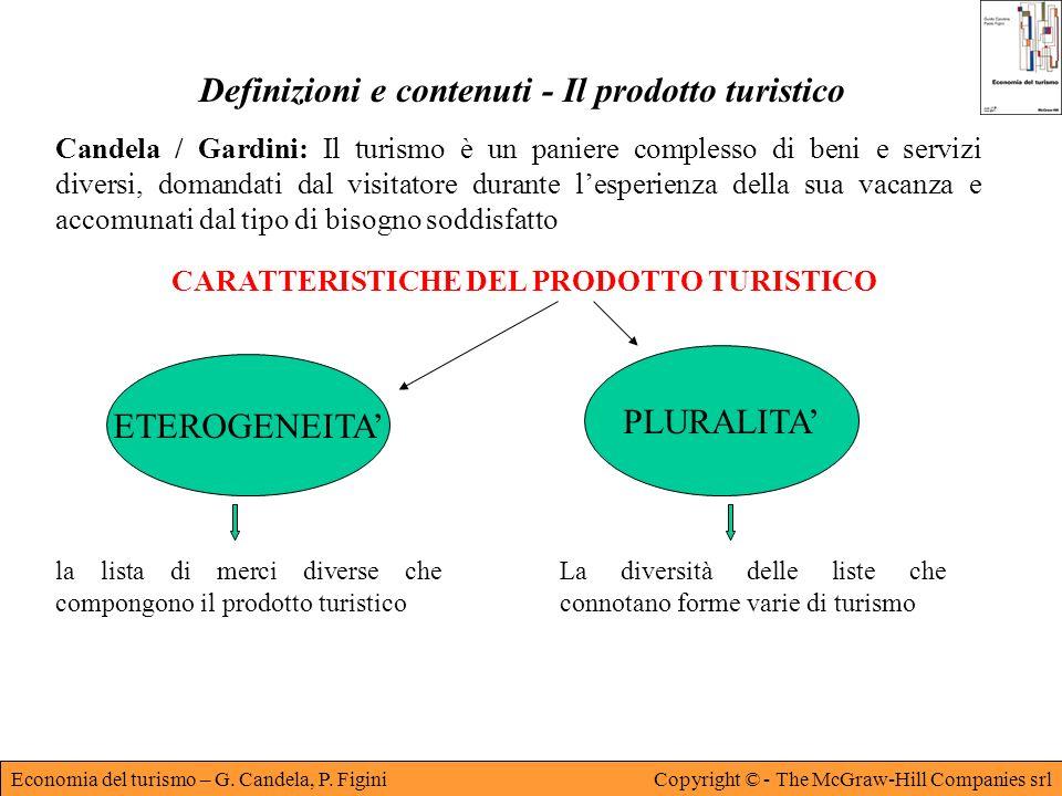 Definizioni e contenuti - Il prodotto turistico