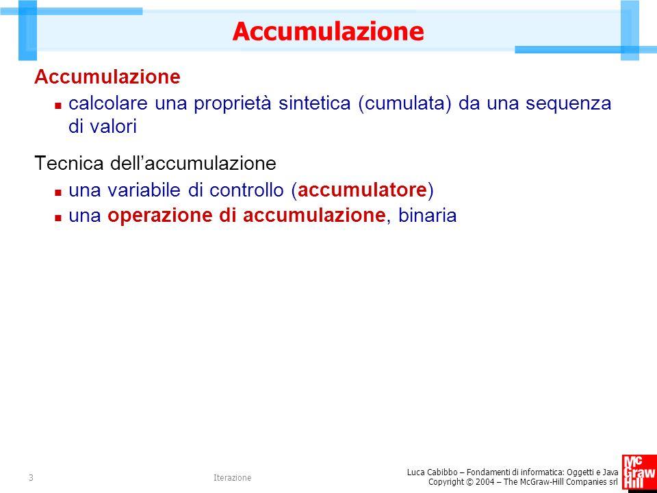 Accumulazione Accumulazione