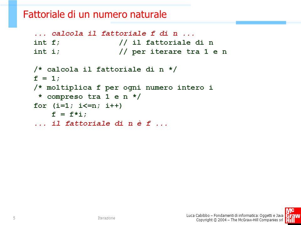 Fattoriale di un numero naturale