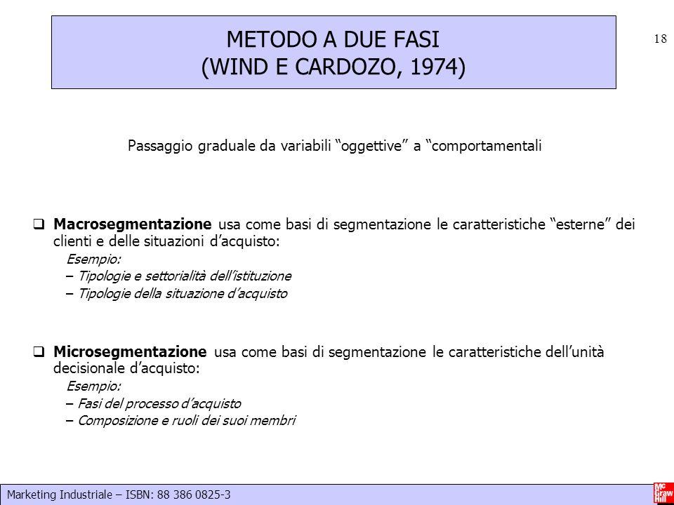 METODO A DUE FASI (WIND E CARDOZO, 1974)