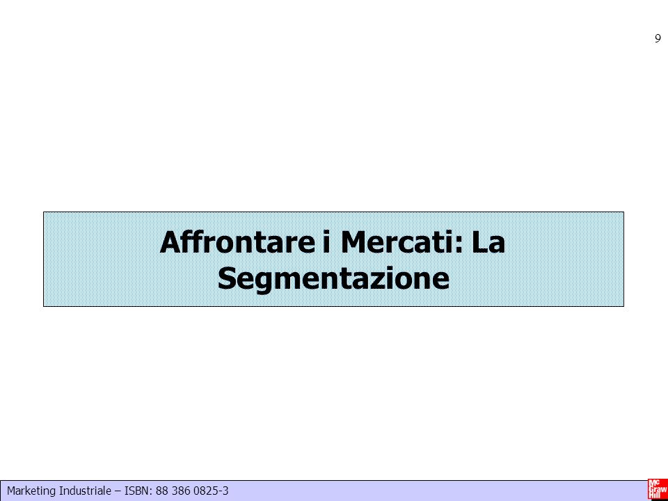 Affrontare i Mercati: La Segmentazione