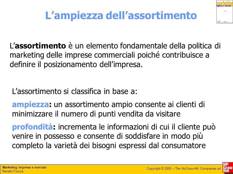 L'ampiezza dell'assortimento