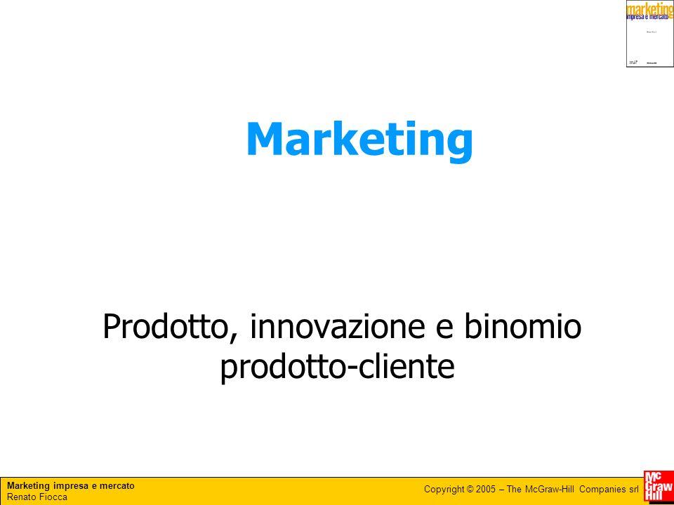 Prodotto, innovazione e binomio prodotto-cliente