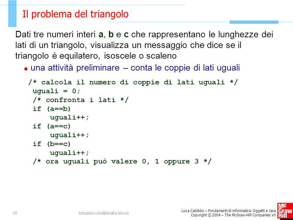 Il problema del triangolo