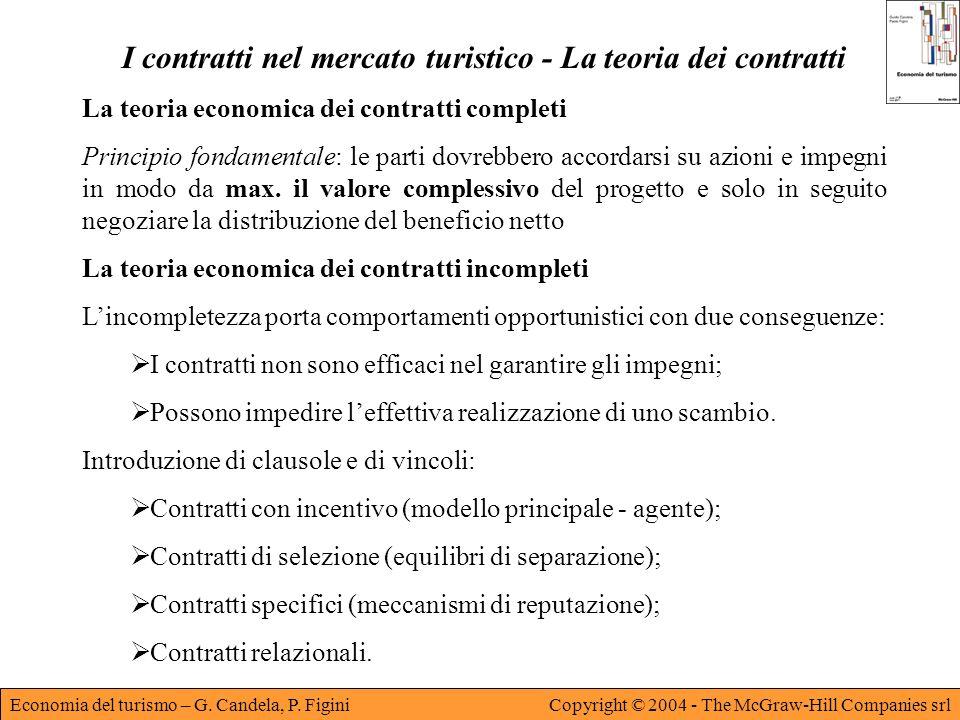 I contratti nel mercato turistico - La teoria dei contratti