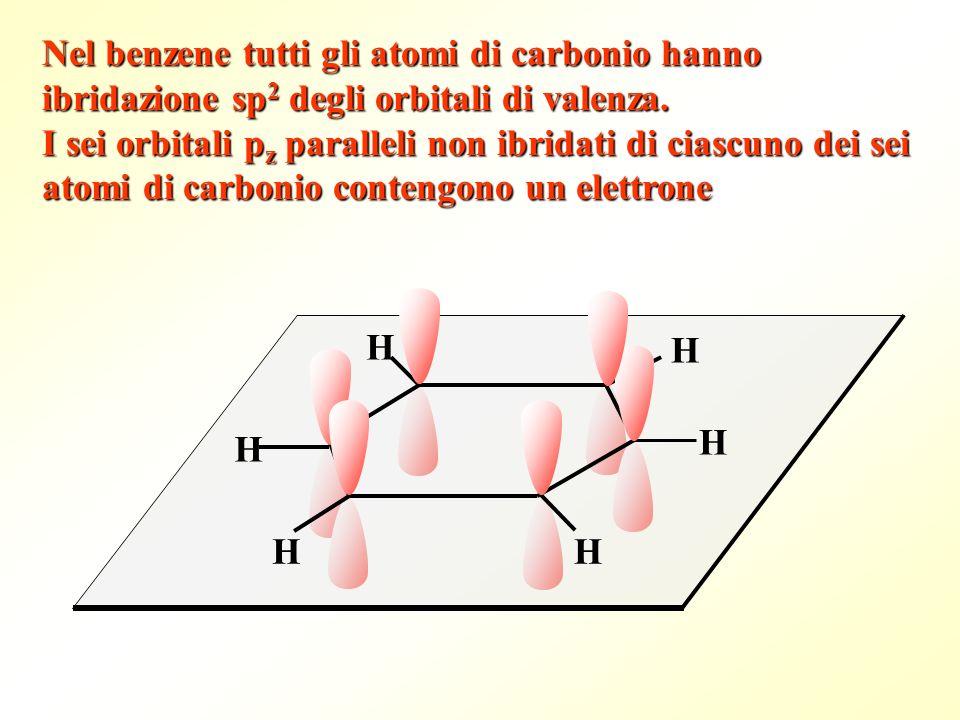 Nel benzene tutti gli atomi di carbonio hanno