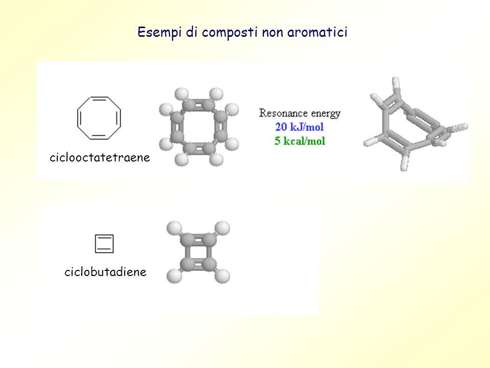 Esempi di composti non aromatici