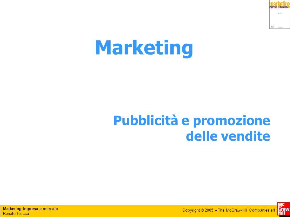 Marketing Pubblicità e promozione delle vendite