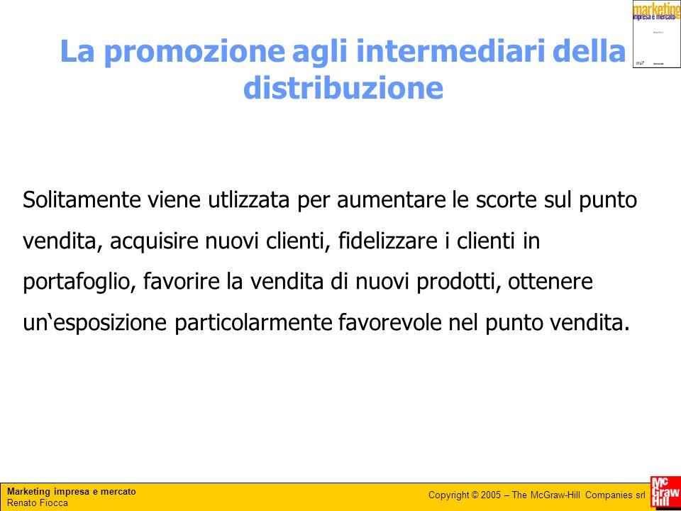 La promozione agli intermediari della distribuzione