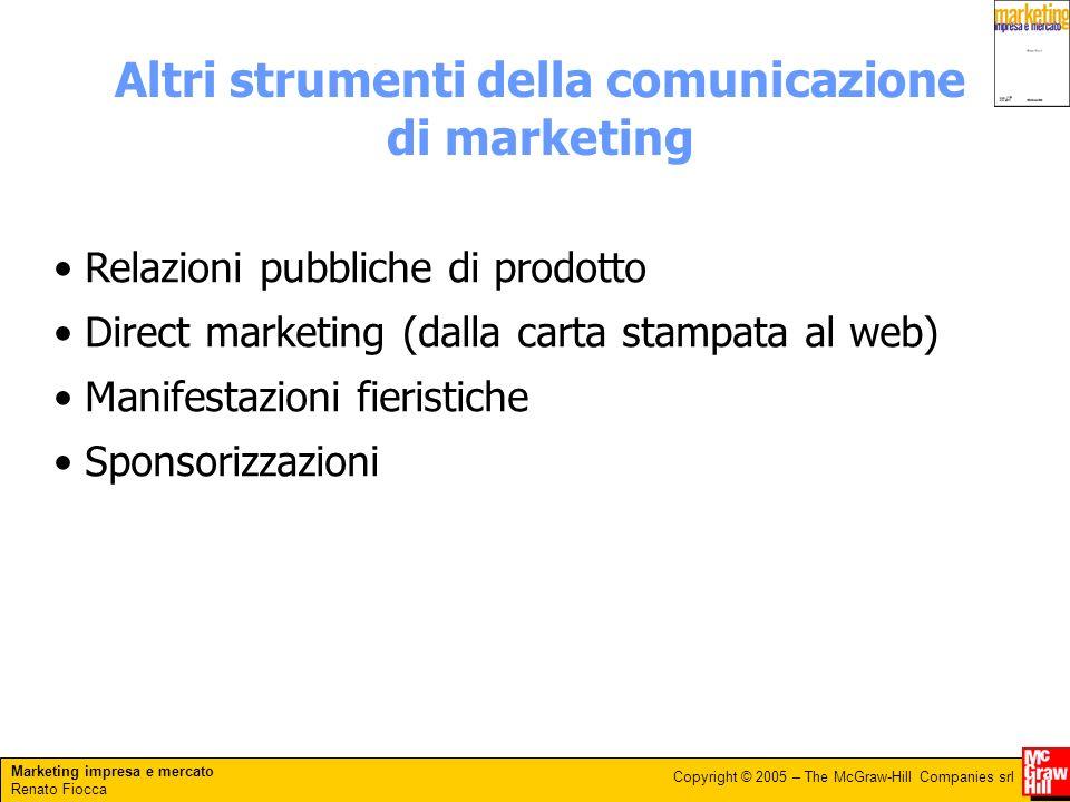 Altri strumenti della comunicazione di marketing