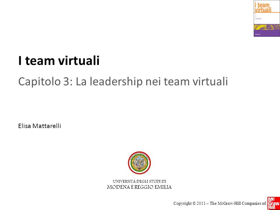 Capitolo 3: La leadership nei team virtuali