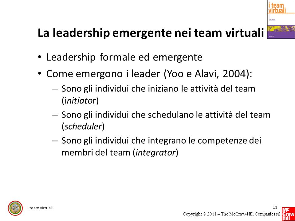 La leadership emergente nei team virtuali