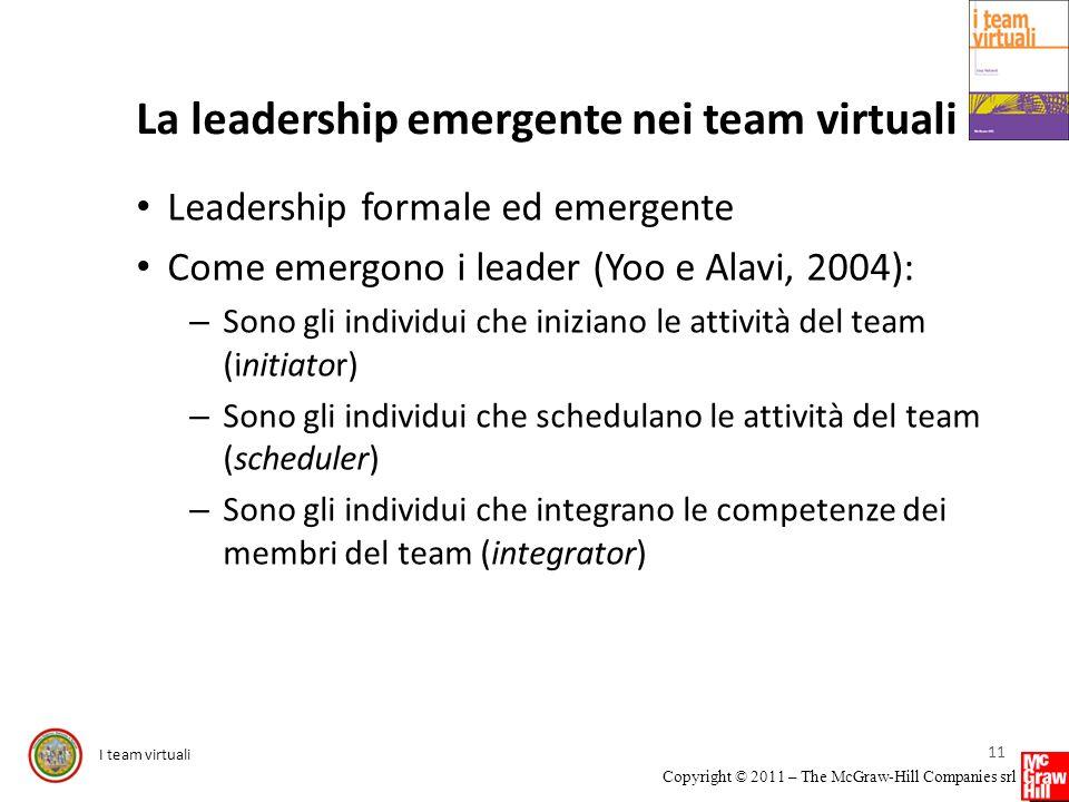La leadership emergente nei team virtuali