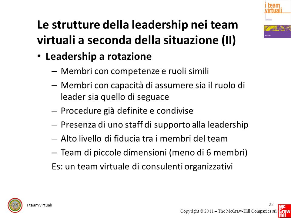Le strutture della leadership nei team virtuali a seconda della situazione (II)