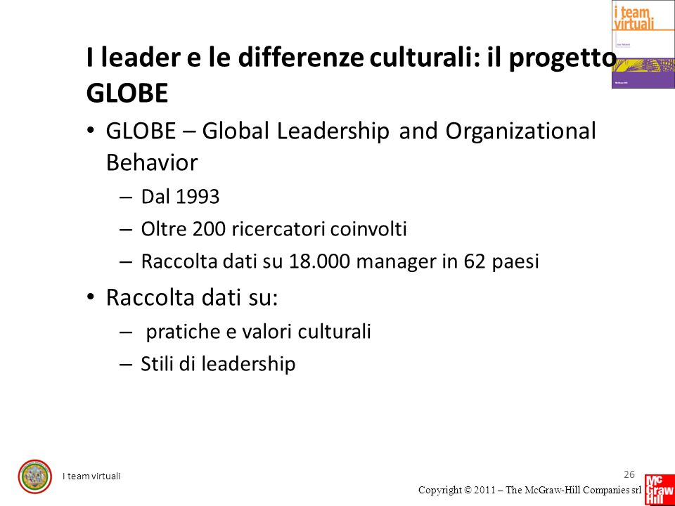 I leader e le differenze culturali: il progetto GLOBE