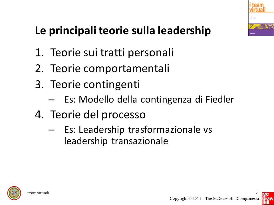 Le principali teorie sulla leadership
