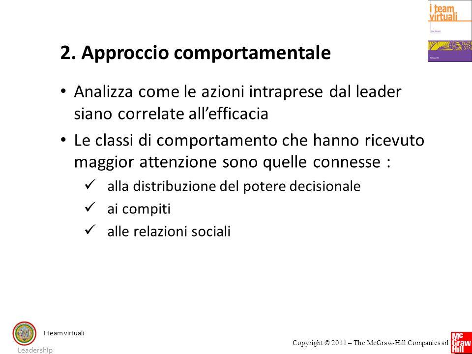 2. Approccio comportamentale