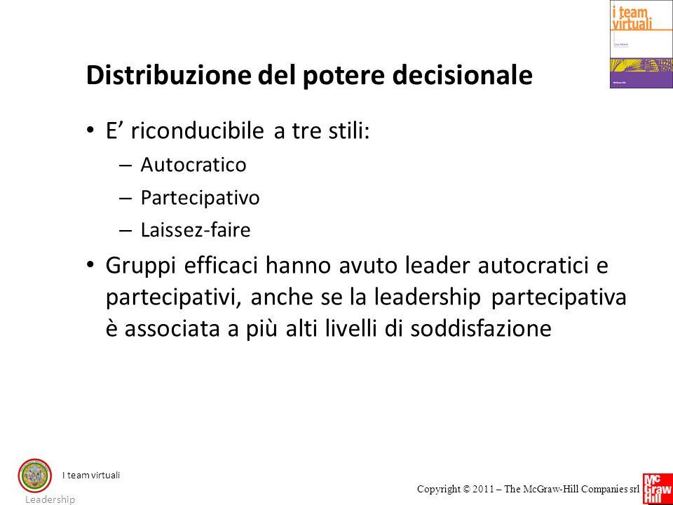 Distribuzione del potere decisionale