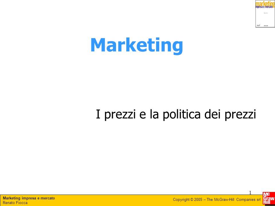 Marketing I prezzi e la politica dei prezzi