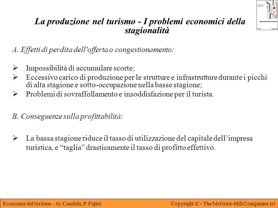 La produzione nel turismo - I problemi economici della stagionalità