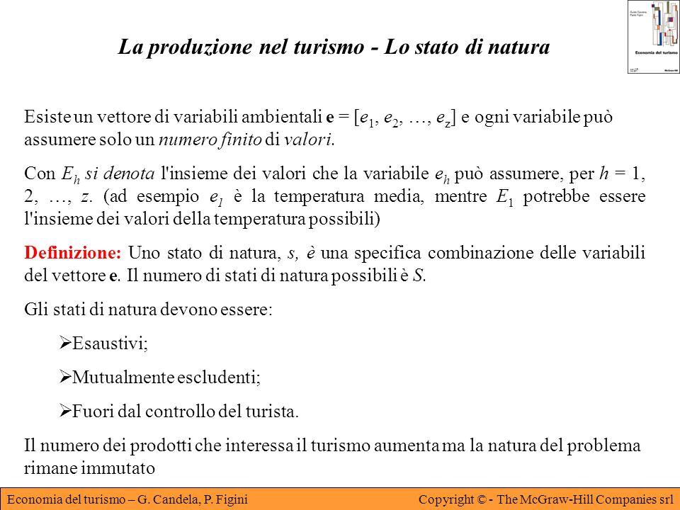 La produzione nel turismo - Lo stato di natura