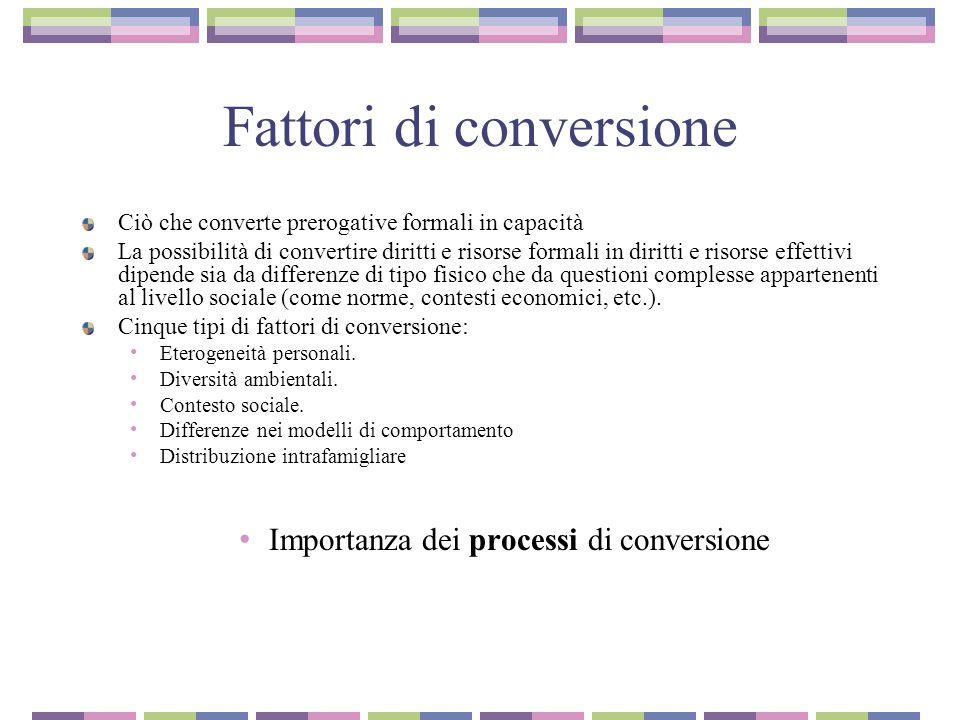 Fattori di conversione