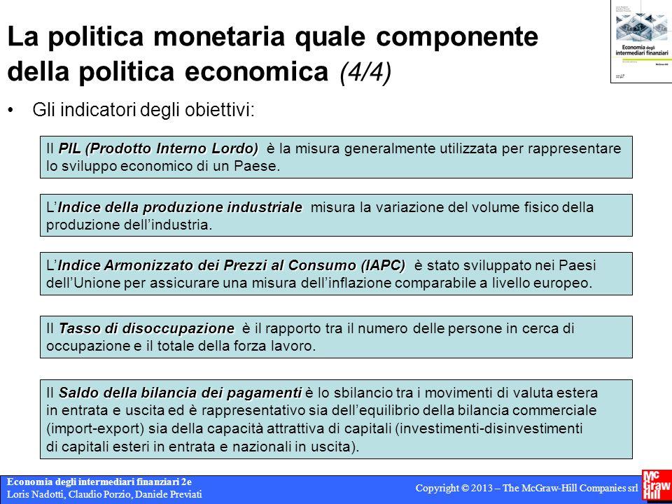 La politica monetaria quale componente della politica economica (4/4)