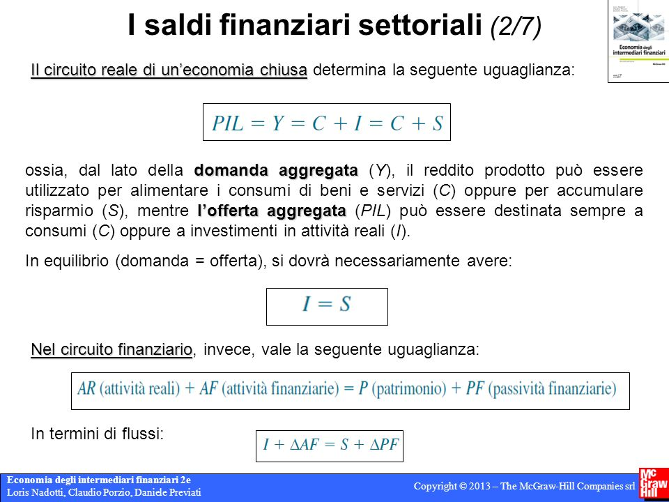 I saldi finanziari settoriali (2/7)