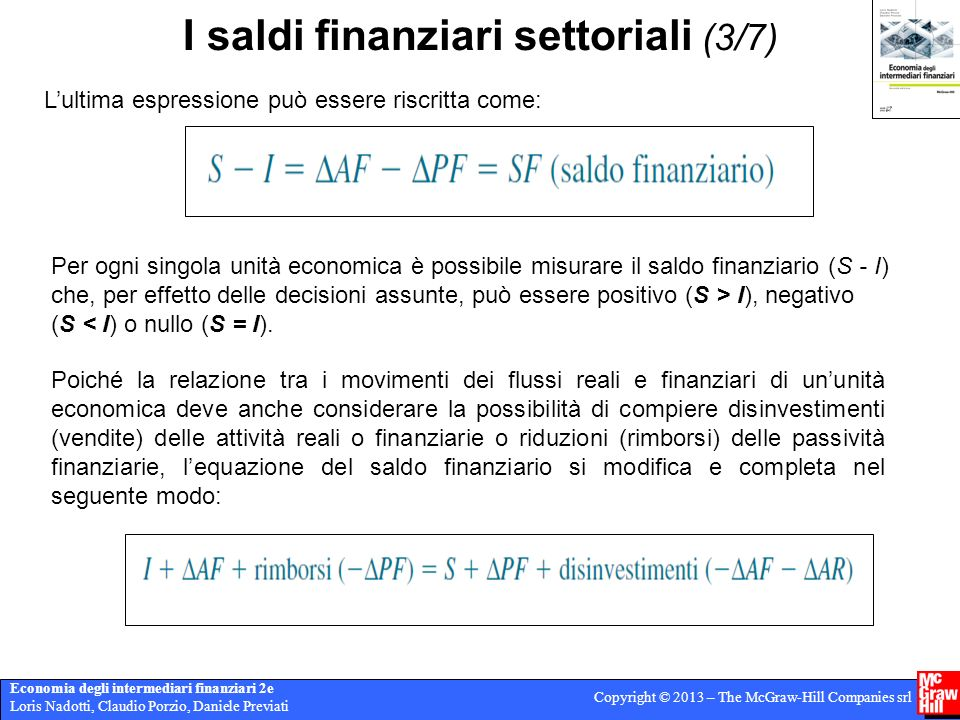 I saldi finanziari settoriali (3/7)