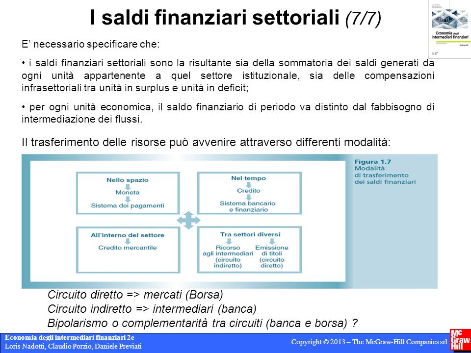 I saldi finanziari settoriali (7/7)