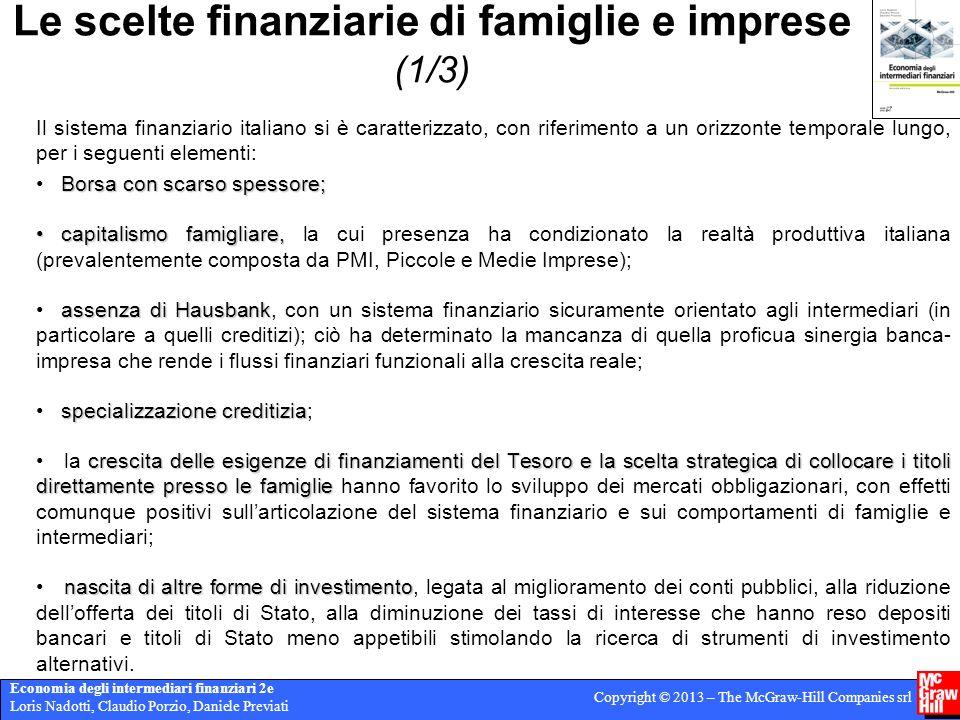 Le scelte finanziarie di famiglie e imprese (1/3)