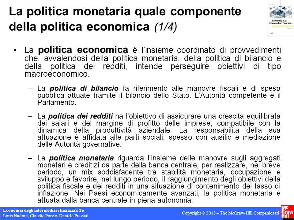 La politica monetaria quale componente della politica economica (1/4)
