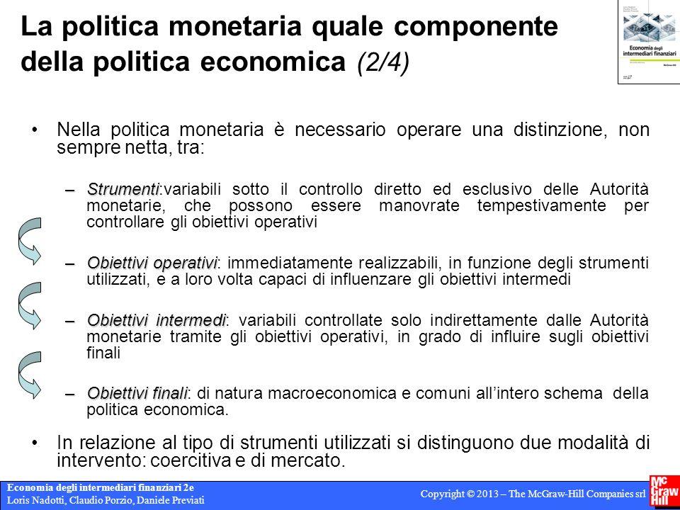 La politica monetaria quale componente della politica economica (2/4)