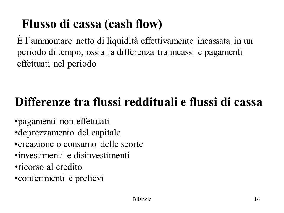 Flusso di cassa (cash flow)