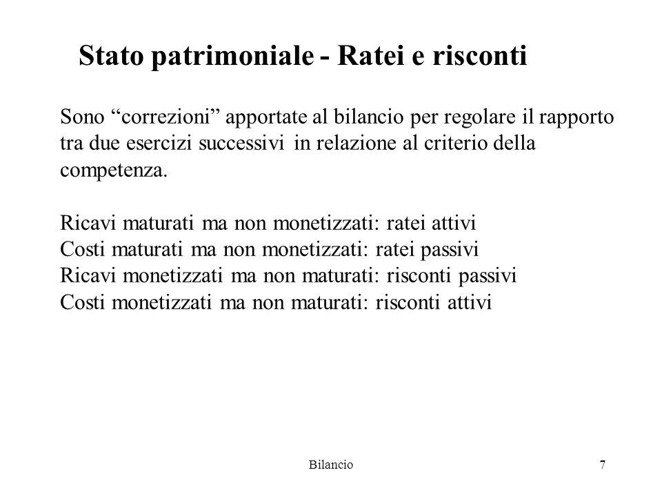 Stato patrimoniale - Ratei e risconti