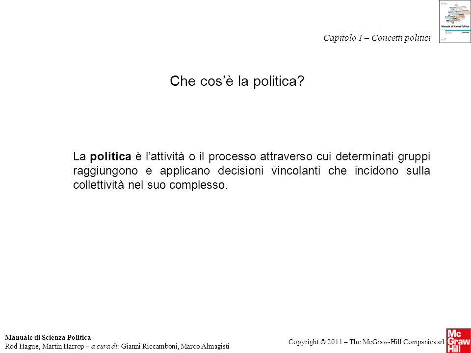 Capitolo 1 – Concetti politici