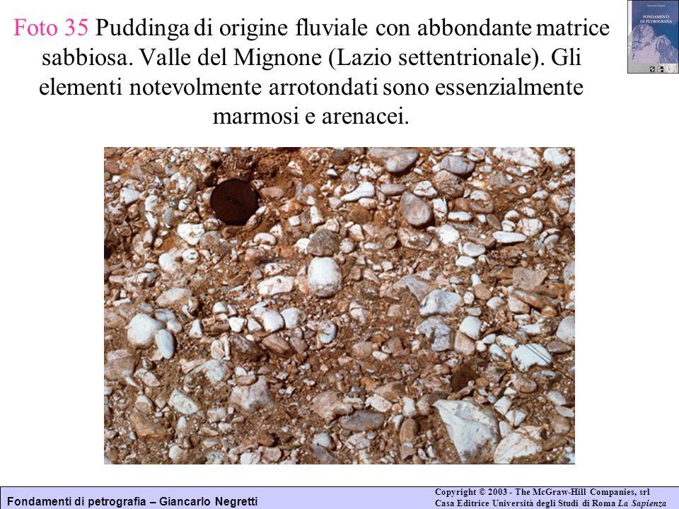 Foto 35 Puddinga di origine fluviale con abbondante matrice sabbiosa