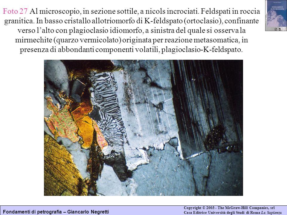 Foto 27 Al microscopio, in sezione sottile, a nicols incrociati