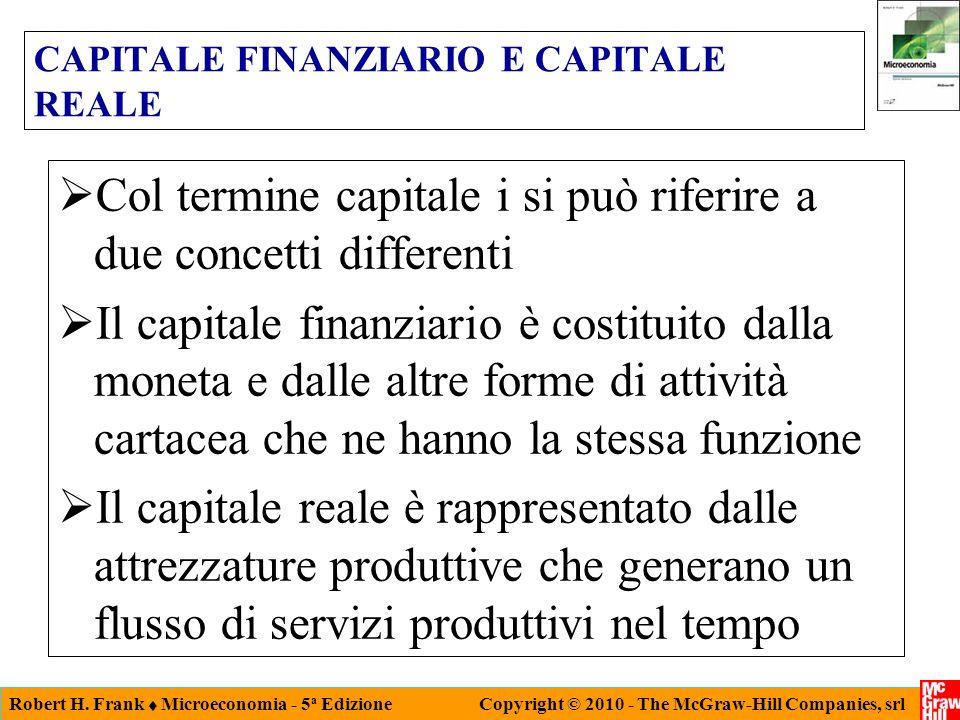 CAPITALE FINANZIARIO E CAPITALE REALE