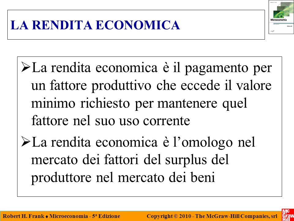 LA RENDITA ECONOMICA